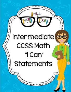 "Intermediate School (3rd, 4th, 5th) :BUNDLE MATH CCSS ""I C"