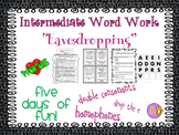 "Word Work and Vocabulary 5-Day Intermediate Unit ""EAVESDROPPING"""