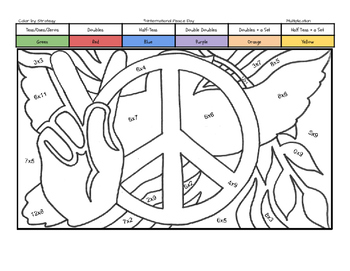 International Peace Day Coloring Page by Multiplication Fa
