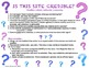 Internet Research: How to Search, Select, Cite Credible Sources