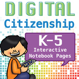 Internet Safety or Digital Citizenship Interactive Noteboo