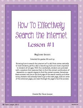 Internet Search Activity #1