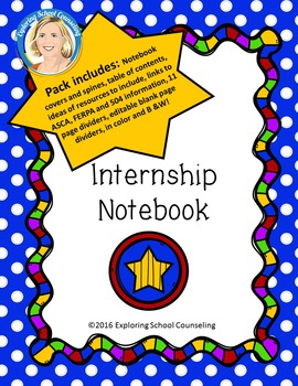 #octoberfestsale Internship Binder for School Counseling Students