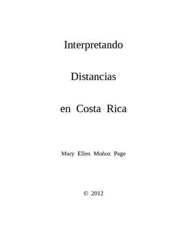 Interpretando Distancias en Costa Rica