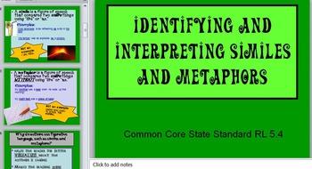 Interpreting  Similes and Metaphors