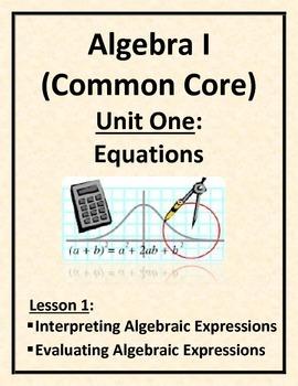 Interpreting and Evaluating Algebraic Expressions