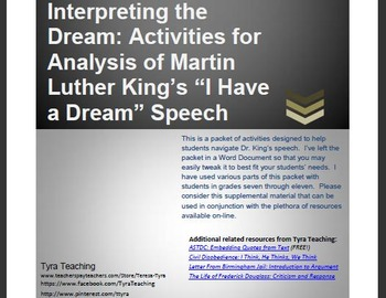 Interpreting the Dream: Activities for Analysis of Martin