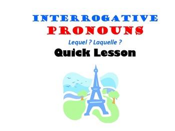 Interrogative Pronouns (Lequel, Laquelle): French Quick Lesson