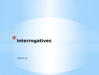 Interrogatives vocabulary picture review