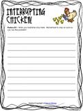 Interrupting Chicken Writing Activity