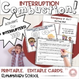 Social Language: Interruption Combustion!  Lessons & Activ
