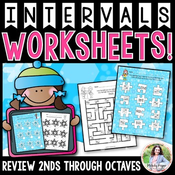Interval Flurries: A Flurry of Interval Worksheets {Color