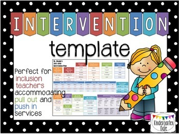 Intervention Plan Template