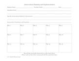 Intervention Planning Framework