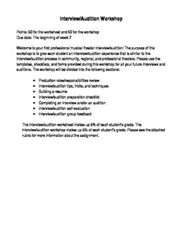 Interview/Audition Workshop Rubric