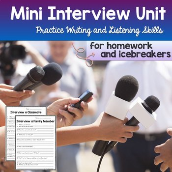 Interview Classmate or Family Member Mom Dad Activity Back
