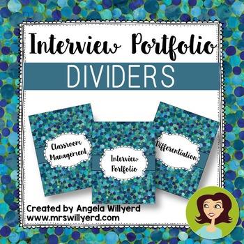 Interview Portfolio Dividers - FREEBIE