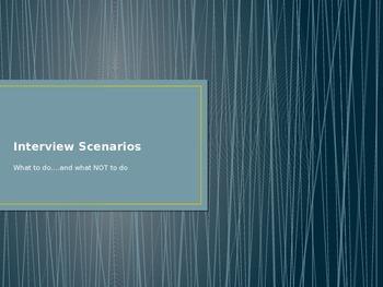 Interview Scenarios Game: Dos and Don'ts