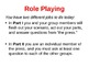 Interviewing Instructions and Role Playing