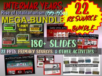 Interwar Years BUNDLE (22 PPTs & Documents) Nazism, Fascis
