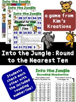 Into the Jungle: Rounding to the nearest ten game