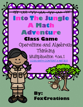 Into the Jungle ~ Wild About Math Multiplication Game! Rev