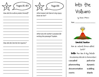 Into the Volcano Trifold - Wonders 6th Grade Unit 1 Week 4