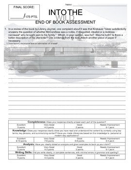 Into the Wild End of Book Assessment