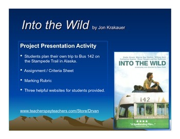 Into the Wild - Presentation Project (Book or Film Study)