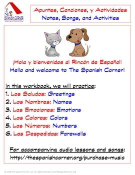 Intro Spanish Unit for Kids