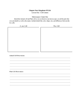 Intro To Cells Centers Packet