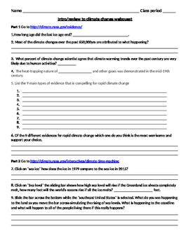 Intro/review Climate change webquest