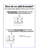 Intro to Adding Decimals; Tenths & Hundredths; Modified fo