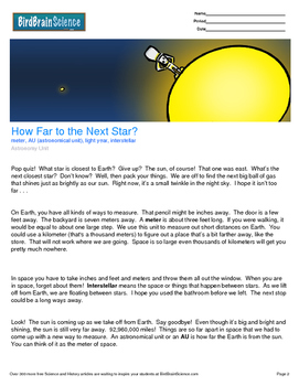 Intro to Astronomy, How Far to The Next Star? - Engaging S