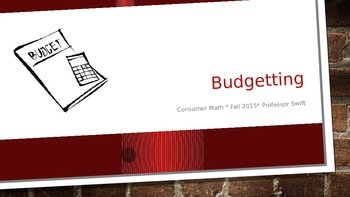 Intro to Budgeting PowerPoint Presentation