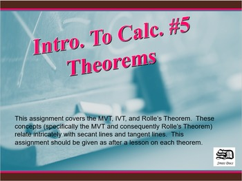 Intro to Calculus #5 (Theorems)