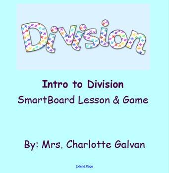 Intro to Division SmartBoard Lesson & Game