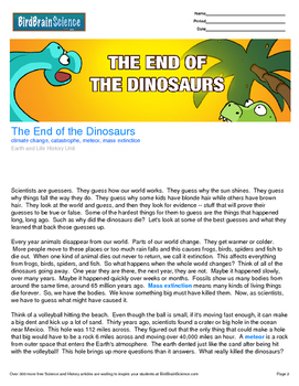 Intro to Earth and Life History, The End of the Dinosaurs