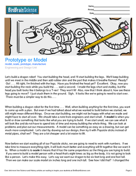 Intro to Engineering and Design, Prototype or Model - Enga