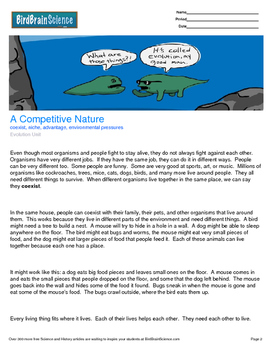 Intro to Evolution, A Competitive Nature - Engaging Scienc