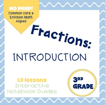 Intro to Fractions-Interactive Notebook {Common Core Aligned}