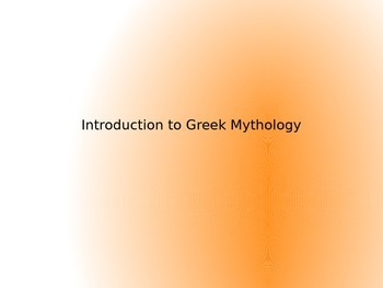 Intro to Greek Mythology Powerpoint and Playing Card Assignment