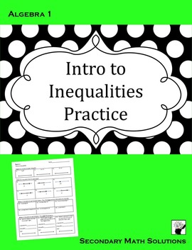 Intro to Inequalities Practice