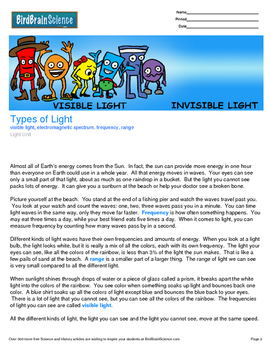 Intro to Light, Types of Light - Engaging Science Reading
