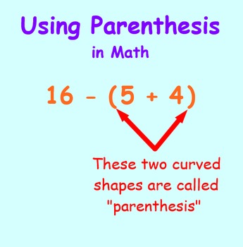 Intro to Parenthesis in Math SmartBoard Lesson