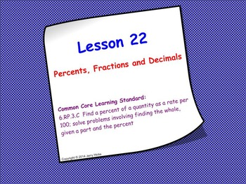 Intro to Percents; SMART Board Lesson and Worksheet Bundle