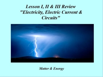 """Intro. to Physics Lesson I - III ActivInspire Review """"Elec"""