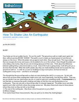Intro to Plate Tectonics, How to Shake Like an Earthquake