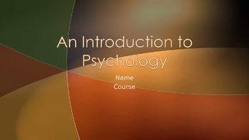 Intro to Psychology PowerPoint