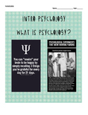 Intro to Psychology: WHOLE SEMESTER Objectives/Reading Gui